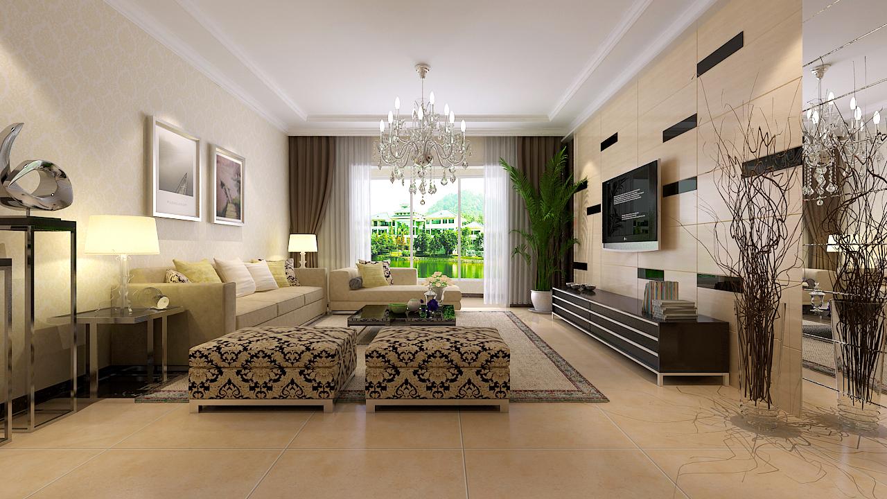 128平3室2厅 现代简约风格装修案例 预算7.73万元