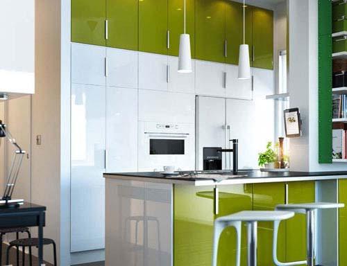 因此我们首先建议小户型家庭采用开放型的厨房设计.
