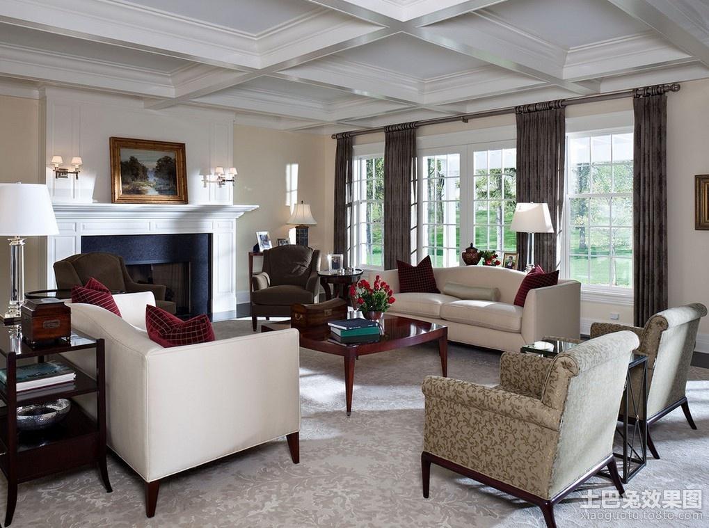 欧式客厅装修效果图 欧式客厅效果图
