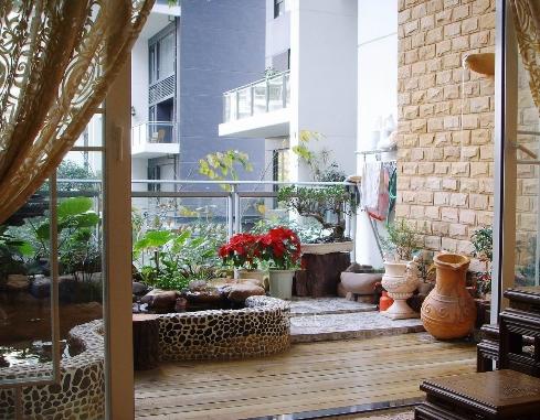 阳台的植物