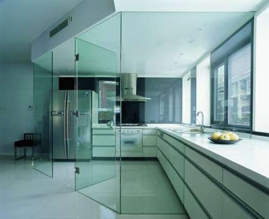 厨房隔断玻璃门设计效果图