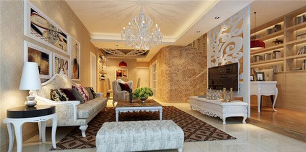 年小户型客厅装修必备电视背景墙隔断设计