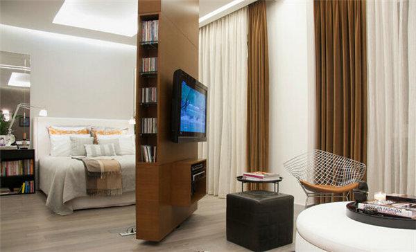 2016年小户型客厅装修必备电视背景墙隔断设计
