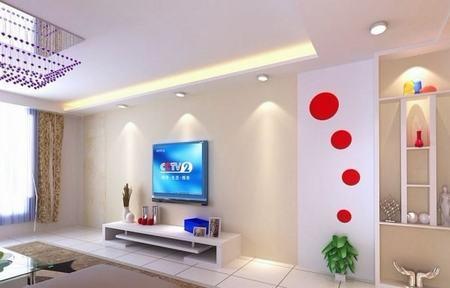 30款电视背景墙装修效果图 2016客厅长脸就靠它了高清图片