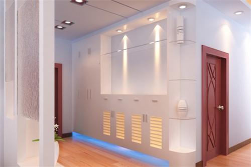 进户门鞋柜装修效果图 2016年玄关鞋柜的巧妙设计