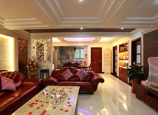 欧式客厅吊顶装修设计 奢华又典雅